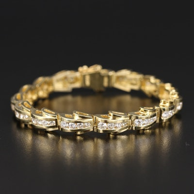 JB Star 18K 4.25 CTW Diamond Link Bracelet