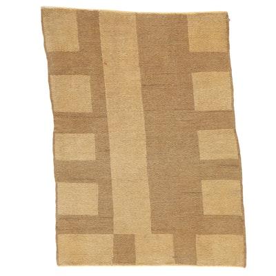 3'9 x 5'1 Handwoven Afghan Soumak Wool Area Rug