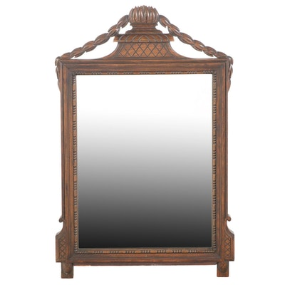 Neoclassical Style Carved Beech Mirror, 20th Century