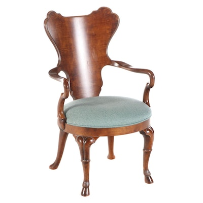 "Century George II Style ""Gentry Game Chair"" in Birch"