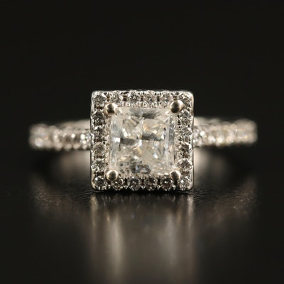 14K 1.92 CTW Diamond Square Ring