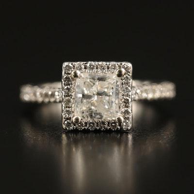 14K 1.92 CTW Diamond Square Ring