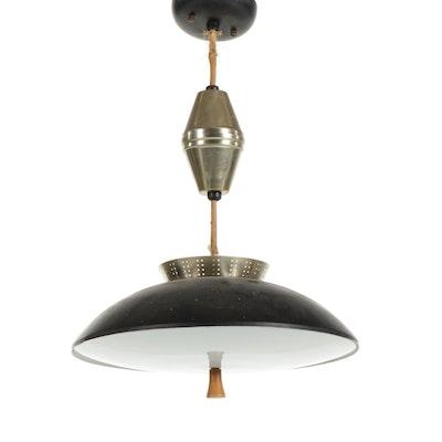 Mid Century Modern Atomic Saucer Pendant Light