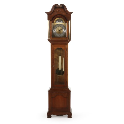 Howard Miller Traditional Oak Grandfather Clock, Late 20th Century