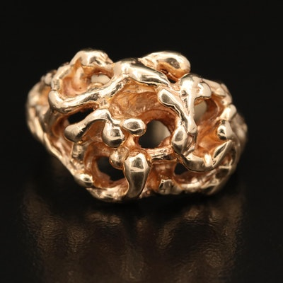 14K Biomorphic Sculpted Ring