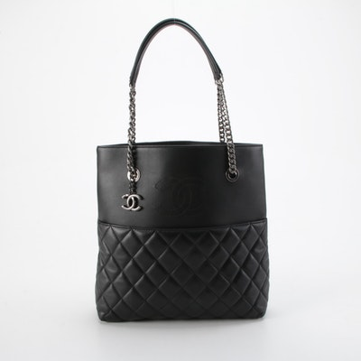 Chanel Small Urban Delight Chain Tote in Black Quilted Lambskin