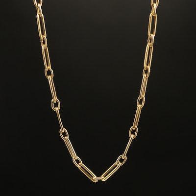 18K Fancy Link Chain