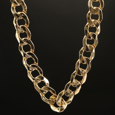Italian 14K Curb Link Necklace