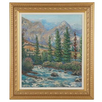 Wallace Edgar Howard Landscape Oil Painting