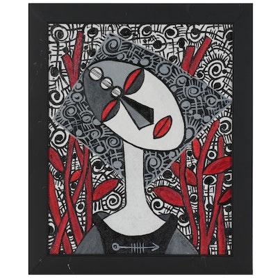 "Lanre Buraimoh Acrylic Painting ""Hope"""