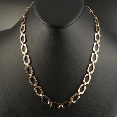 14K Fancy Link Endless Necklace