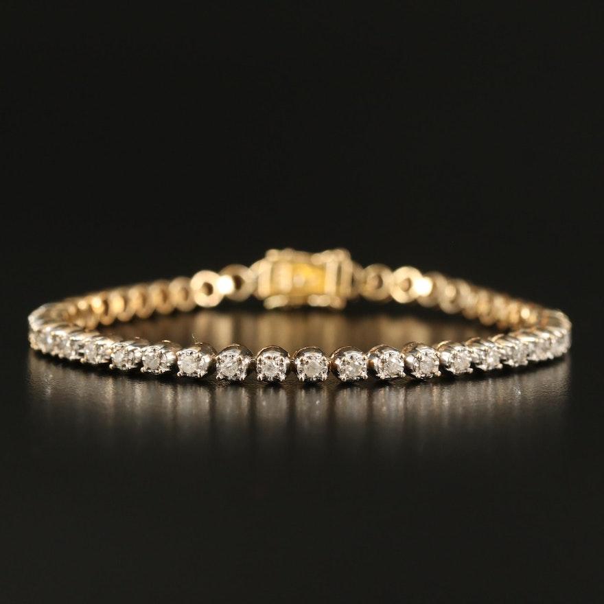 14K 1.12 CTW Diamond Line Bracelet