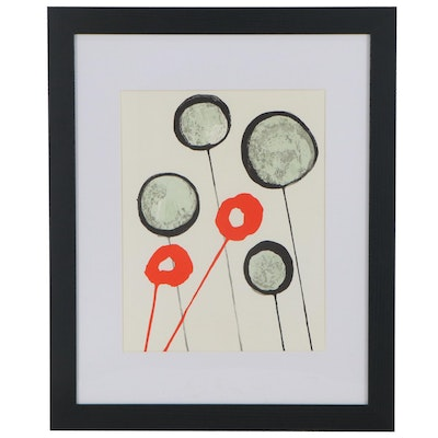 "Alexander Calder Color Lithograph for ""Derrière le Miroir,"" 1966"