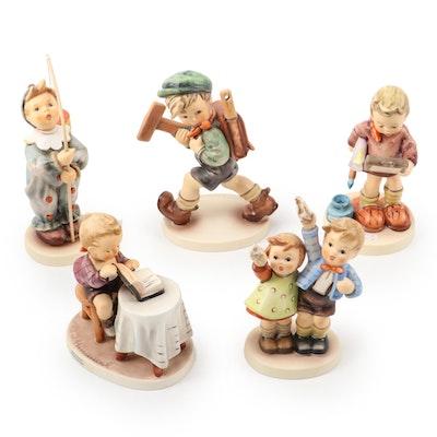 """Goebel """"Little Bookkeeper"""" and Other Porcelain Hummel Figurines"""