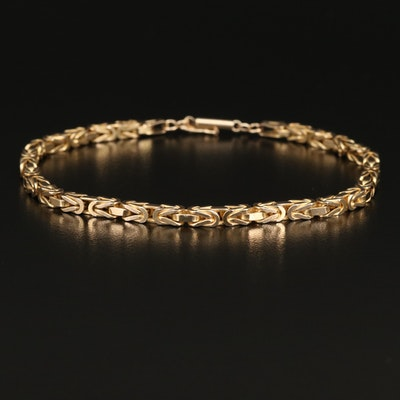 Italian 14K Square Byzantine Link Bracelet