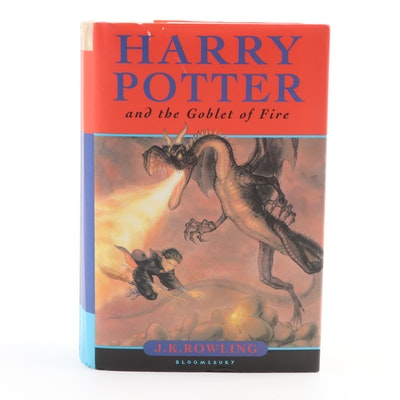 "First UK Edition ""Harry Potter and the Goblet of Fire"" by J. K. Rowling, 2000"