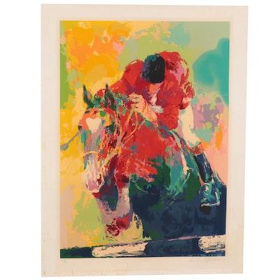 LeRoy Neiman Serigraph of a Horse and Jockey