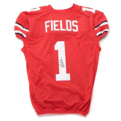 Justin Fields Signed Ohio State Football Jersey, JSA COA