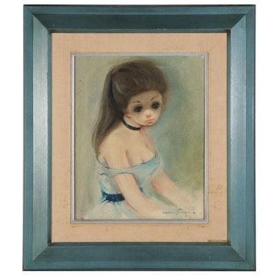 """Ozz França Oil Painting """"Debutante"""""""
