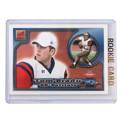 2000 Tom Brady Pacific Aurora #84 Rookie NFL Football Card