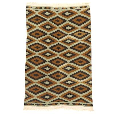 6'3 x 9'8 Handwoven Afghan Kilim Wool Area Rug