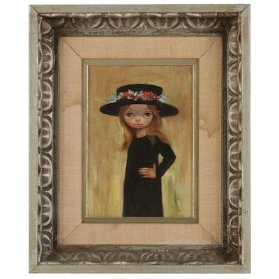 Ozz França Portrait Oil Painting in the Style of Margaret Keane