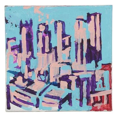 "Patrick McCafferty Oil Painting ""PGH Plein Air Study, Grandview,"" 2021"