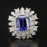 14K Tanzanite and 1.79 CTW Diamond Ring