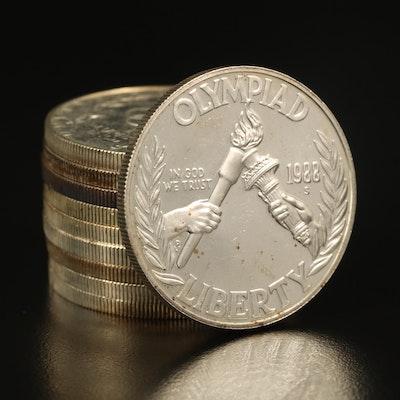 Ten Proof Commemorative Silver Dollars