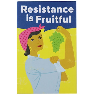 "David Pohl Offset Lithograph ""Resistance is Fruitful,"" 2017"