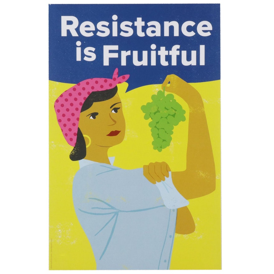 """David Pohl Offset Lithograph """"Resistance is Fruitful,"""" 2017"""