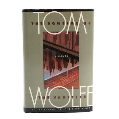 "Signed First Trade Edition ""Bonfire of the Vanities"" by Tom Wolfe, 1987"