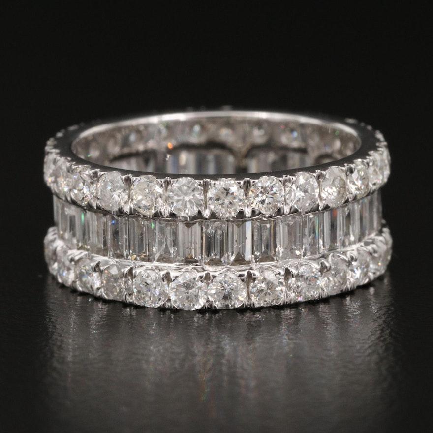 14K 3.98 CTW Diamond Eternity Band