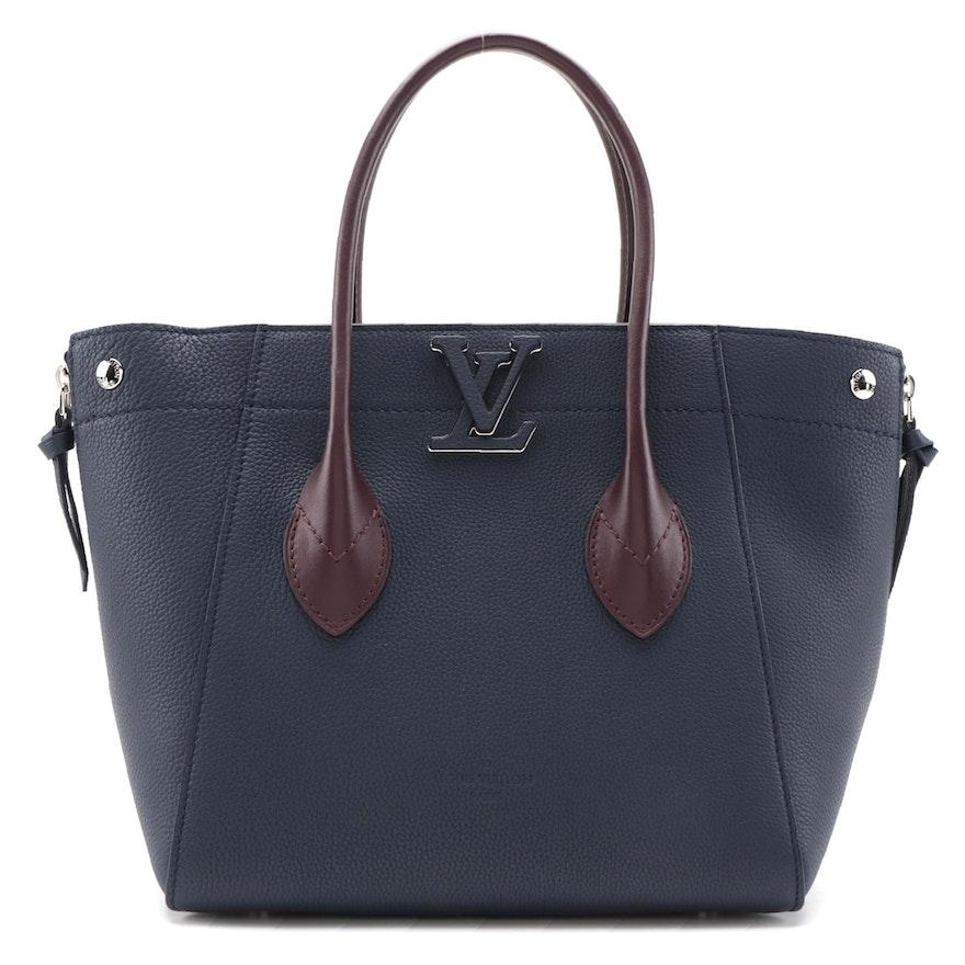 Louis Vuitton Freedom Handbag in Two-Tone Calfskin