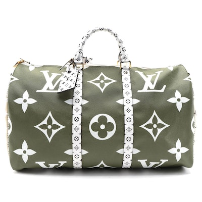 Louis Vuitton Limited Edition Keepall Bandoulière 50 in Monogram Giant Canvas