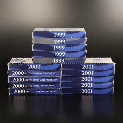 Fifteen U.S. Mint Proof Sets