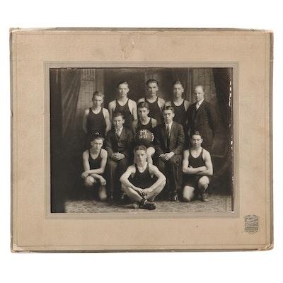 """""""Seven Mile, Ohio"""" Basketball Team Photograph, 1928–1929 Season"""