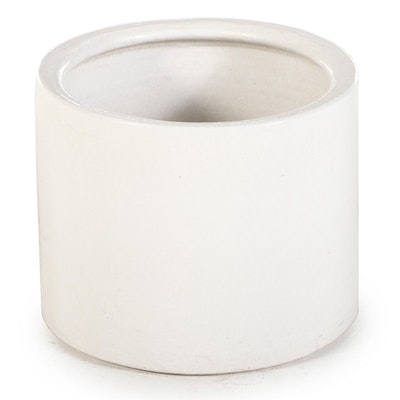 White Glazed Stoneware Crock, Early to Mid-20th Century