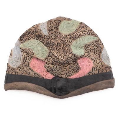 Art Deco Budwig Ltd. Paisley Couching Cloche Hat