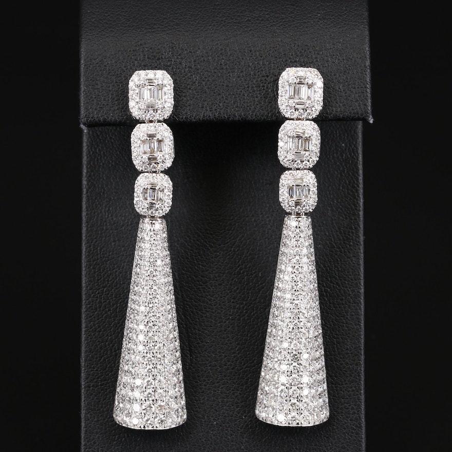 14K 5.86 CTW Diamond Earrings