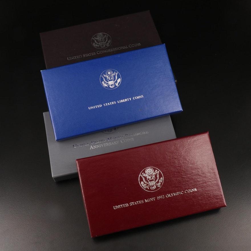 Five U.S. Commemorative Two-Coin Sets