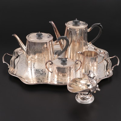 Crafton Sheffield Silver Plate Coffee Set, 1940s