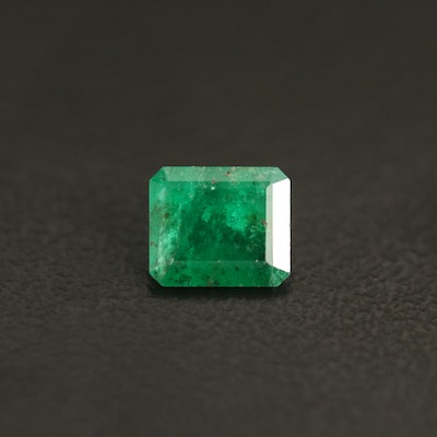 Loose 0.94 CT Rectangular Faceted Emerald