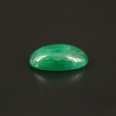 Loose 2.83 CTW Oval Emerald Cabochon
