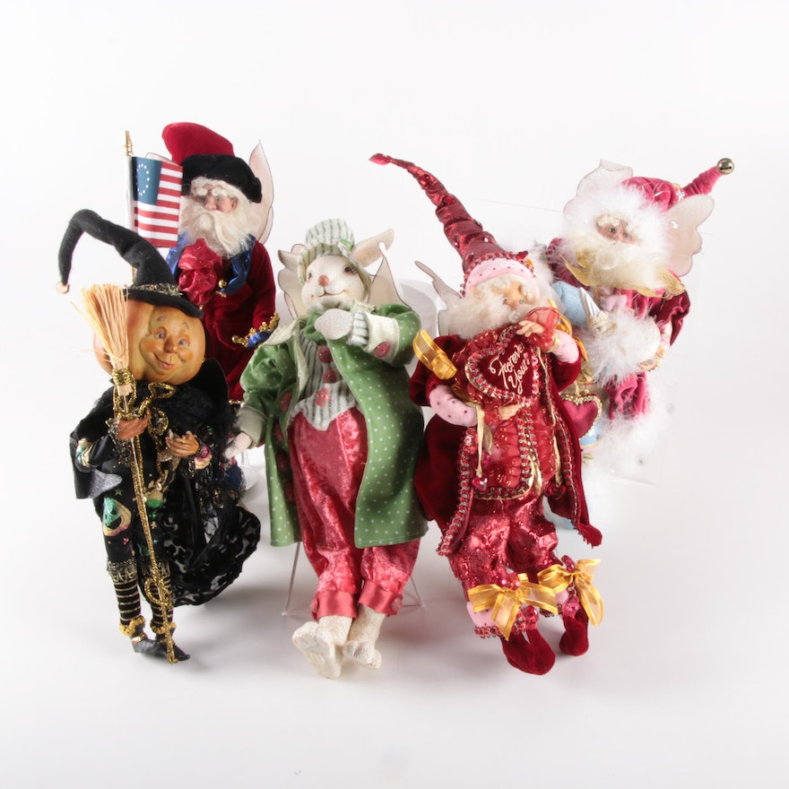 """Mark Roberts Fairy Dolls Including """"Fairy Rabbit"""" and """"Colonial Fairy with Flag"""""""