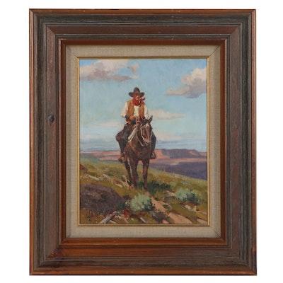 "Jim C. Norton Oil Painting ""Headin' Home,"" 1980"