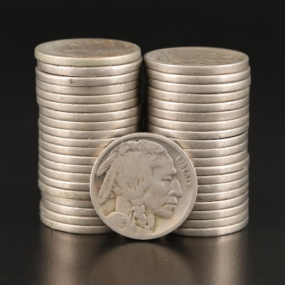 Roll of Forty 1923 Buffalo Nickels