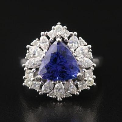 14K 3.38 CT Tanzanite and 1.15 CTW Diamond Ring