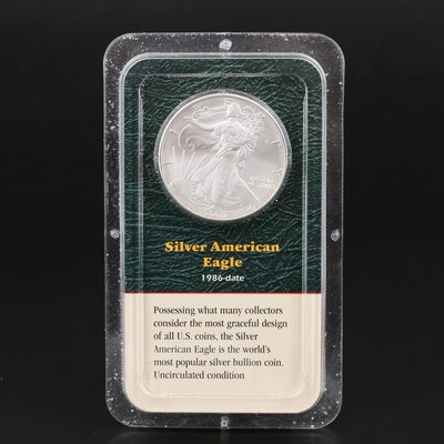 Two 2000 $1 American Silver Eagle Bullion Coins