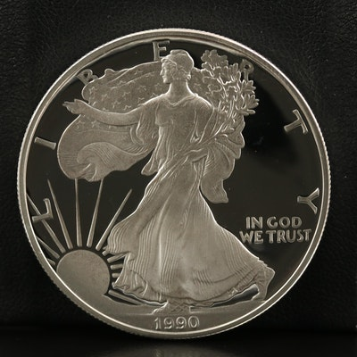 1990-S $1 American Silver Eagle Proof Bullion Coin